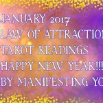 ARIES January 2017 Law of Attraction Tarot Card Reading!!