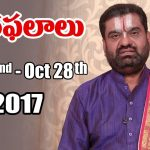 Rasi Phalalu | Oct 22nd to Oct 28th 2017 | Weekly Horoscope 2017 | #Predictions #VaaraPhalalu